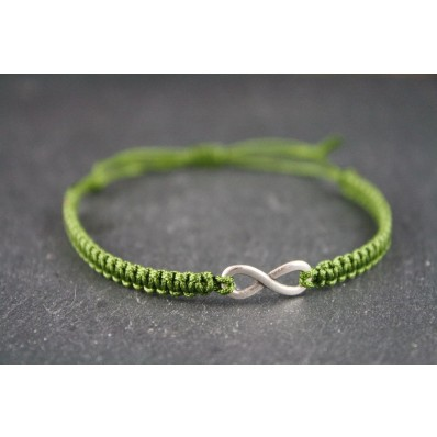 Armband Olive- Infinity Silber