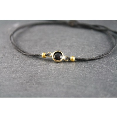 Armband Glasstein SMALL SCHWARZ GOLD - DEIN DESIGN