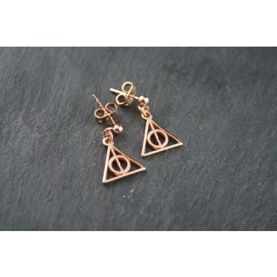 Sterling Silber Ohrstecker Roségold - Harry Potter