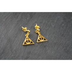 Sterling Silber Ohrstecker Gold - Harry Potter